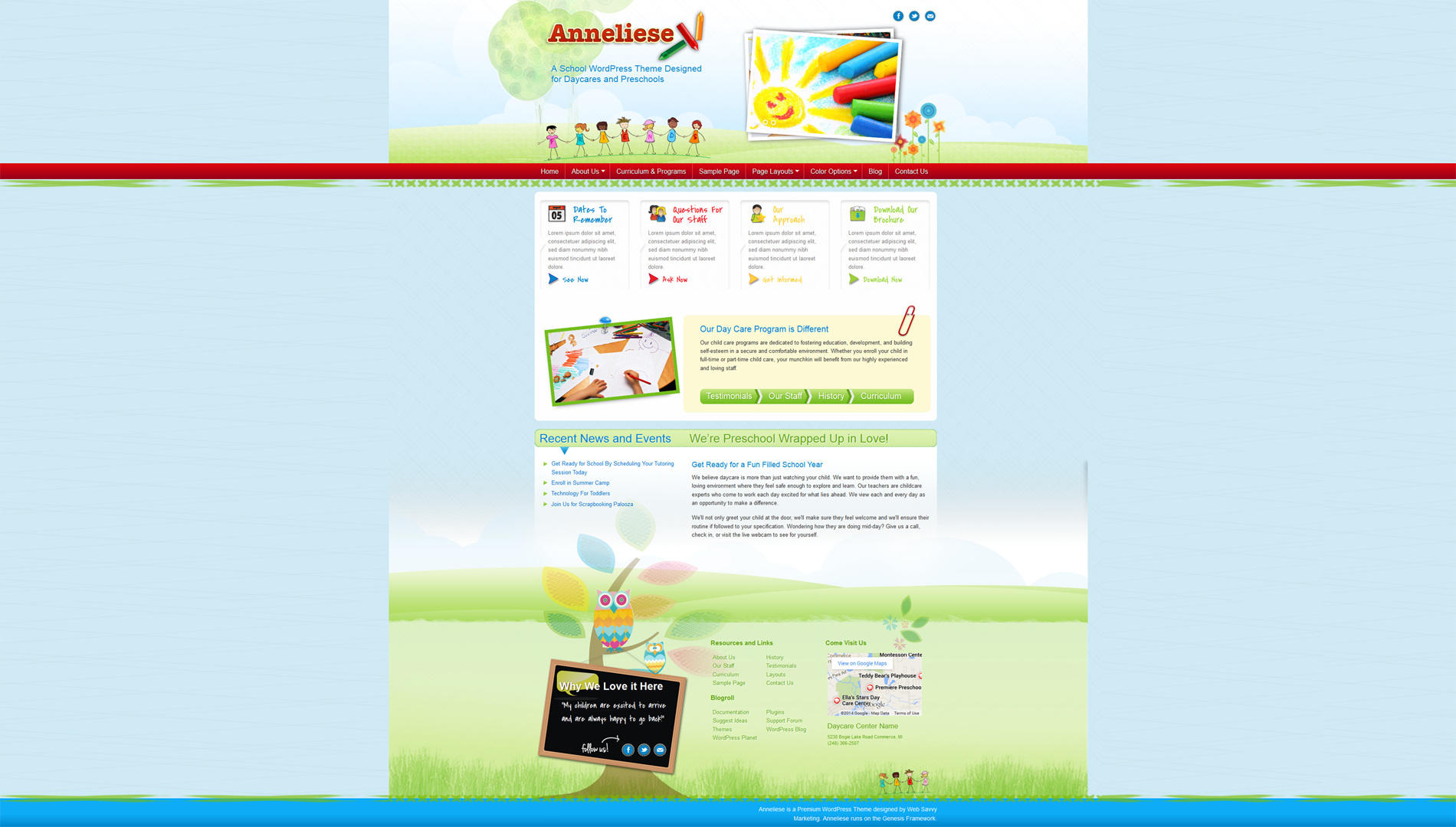 Daycare Childcare Website Design
