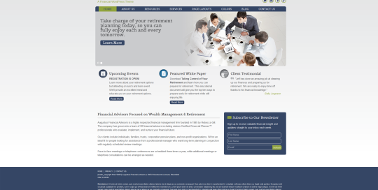 Financial Investment Planner Website Design