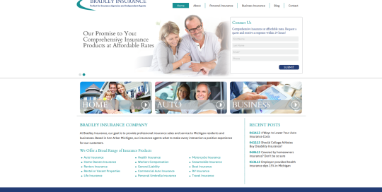 Insurance Agency Website Design