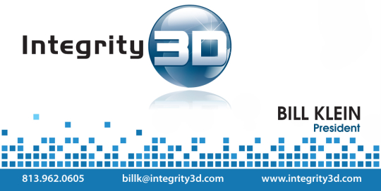 3D Technology Company Business Card Design